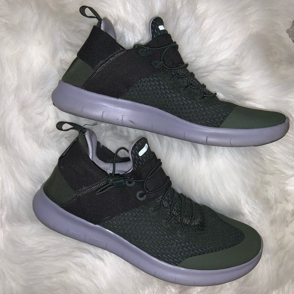 Army Green No Lace Tennis Shoes